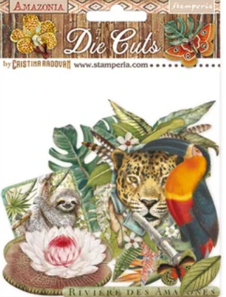 NEW Stamperia Amazonia - Die Cuts Assorted-DFLDC30