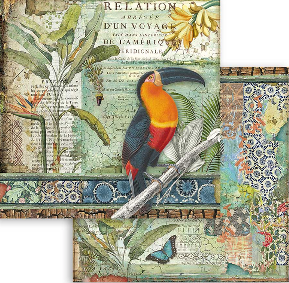NEW Stamperia 'Amazonia Toucan