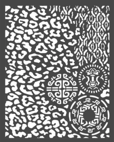 New Stamperia Stencil - Thick Stencil -20 x25cm Amazonia Animal/Tribal KSTD062 - Pre-Order