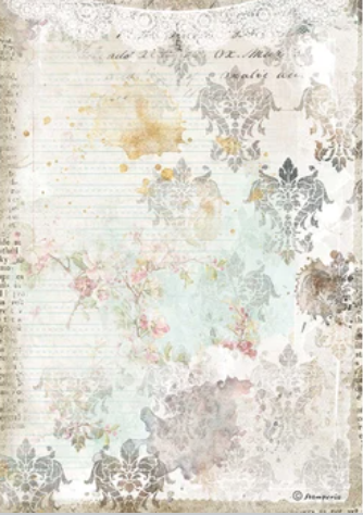 New Stamperia A4 Decoupage Romantic Journal Texture Lace DFSA4556- Pre-Order