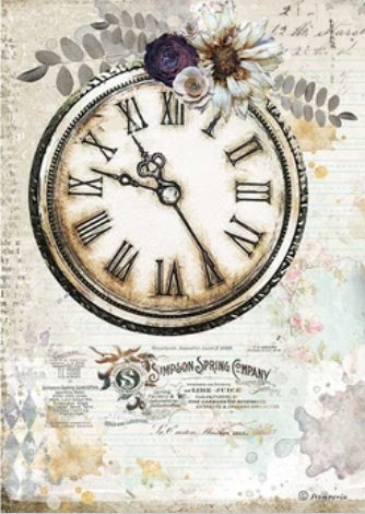 New Stamperia A4 Decoupage Romantic Journal Clock DFSA4555