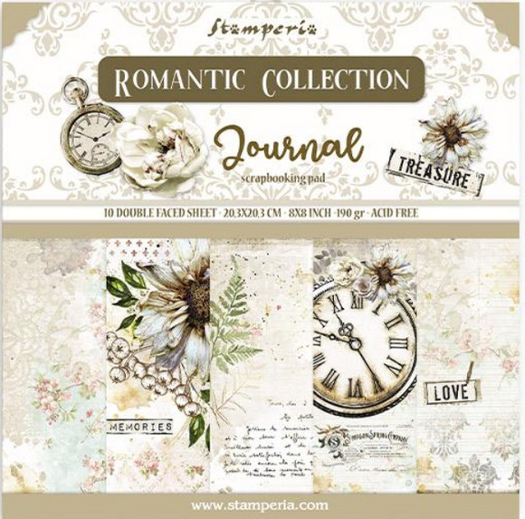 New Stamperia Romantic Journal - 8