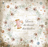 "New Stamperia Romantic Threads- 8"" x 8"" Paper Pad SBBS36 - Pre-Order"