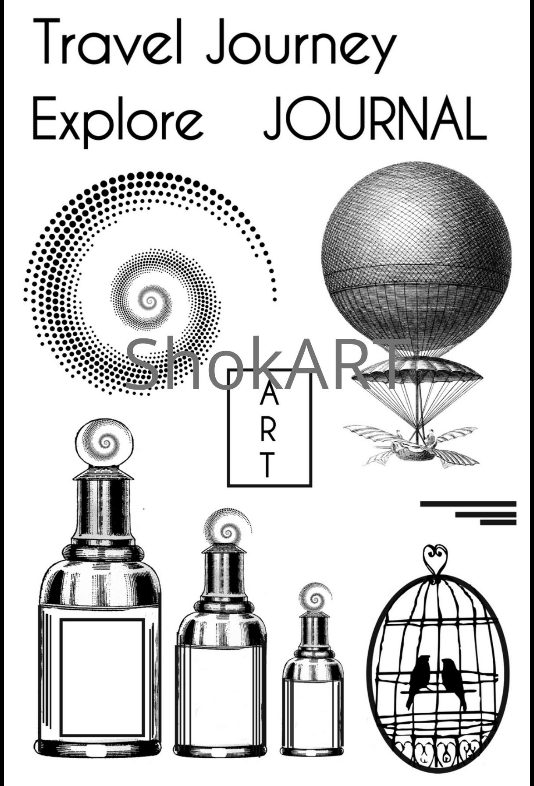 New ShokART- Journal Art A6 Stamp- DA0079