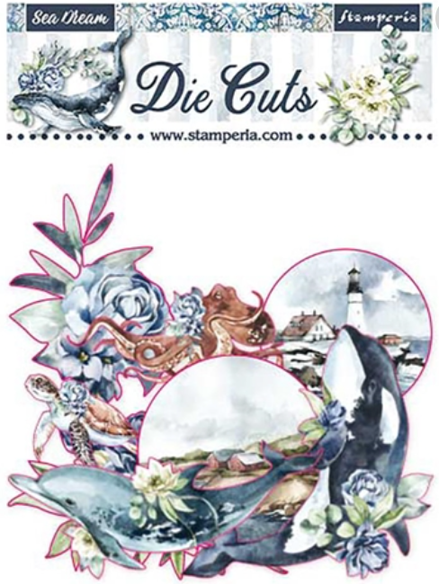 New Stamperia  - Sea Dreams Die Cuts Assorted- DFLDC36