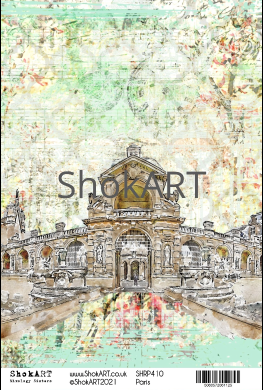 New ShokART A4 Rice Papers - Paris - SHRP410