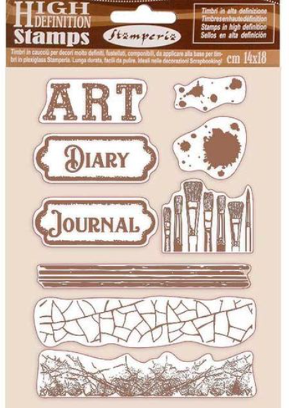 Stamperia Natural Rubber Stamps 14x18cm - Atelier Des Arts  - WTKCC199