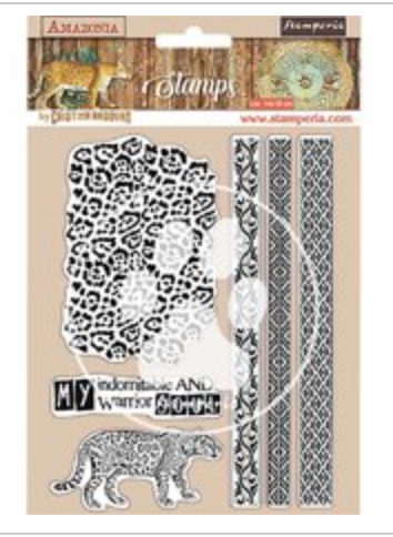 Stamperia Natural Rubber Stamps 14x18cm - Amazonia Tribal  - WTKCC191