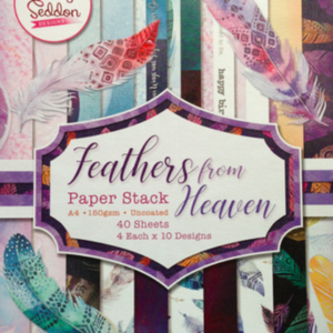 Becky Seddon  A4 Double-Sided Paper Stack - Feathers from Heaven