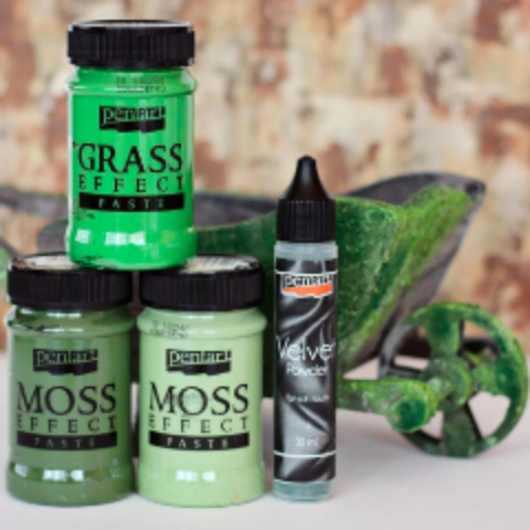 Pentart Moss, Grass Paste and Velvet Powder Effect