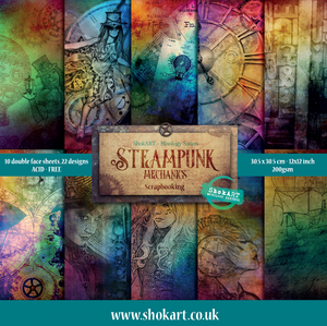 "ShokART Steampunk Mechanics 12x12"" Scrapbooking Pad - Limited Edition"