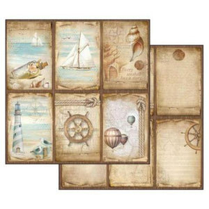 NEW Stamperia Sea Land Cards - Double Face Paper 30 x 30 SBB541