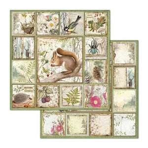 Stamperia Forest Squirrel - Double Face Paper 30 x 30 SBB655