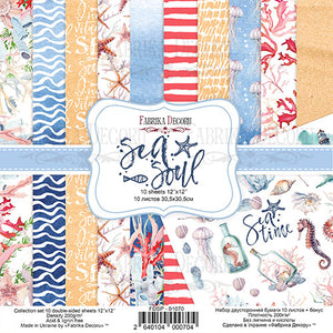 NEW Fabrika Decoru 'Sea Soul' 12x12 Pad - FDSP-01070