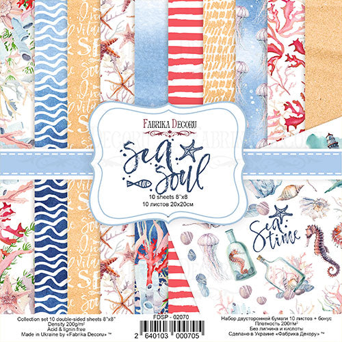NEW Fabrika Decoru 'Sea Soul' 8x8 Pad -FDSP-02070