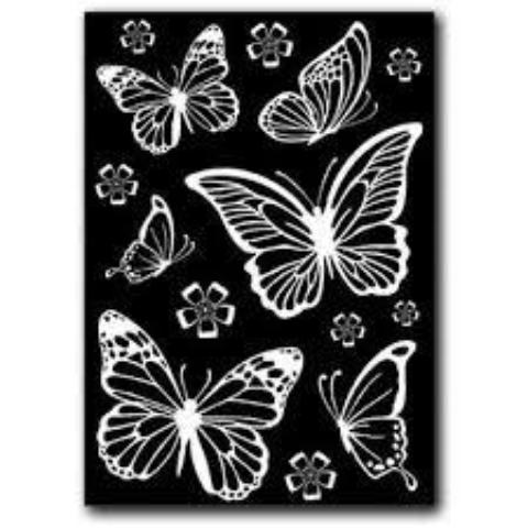Stamperia Rub-On A5 Deco Transfer - 15x22.5cm Butterflies - DFTD01