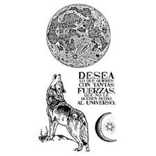 Stamperia Natural Rubber Stamps 10 x 16.5 - Cosmos Wolf - WTKCCR01