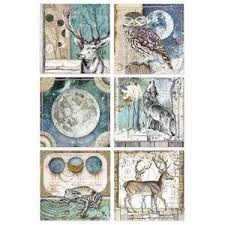 Stamperia A4 Decoupage Rice Paper -  Cosmos Cards DFSA4387