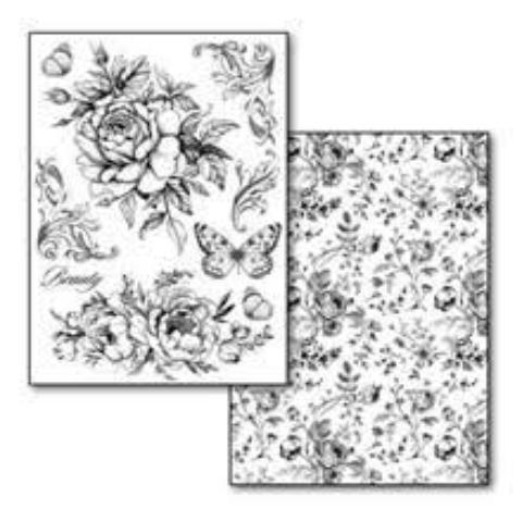 Stamperia Transfer Paper - Roses and Butterflies DFTR081