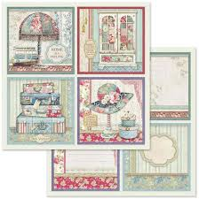 Stamperia Grand Hotel Cards - Double Face Paper 30 x 30 SBB629