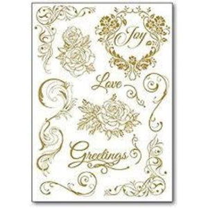 Stamperia Rub-On A5 Deco Transfer - 15x22.5cm Love Greetings - DFTD14