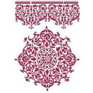 Stamperia Stencil - Flexible transparent 21x29,7cm - Lace Center & Border - KSG356