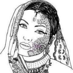 DaliART Henna Lady Rubber Stamp