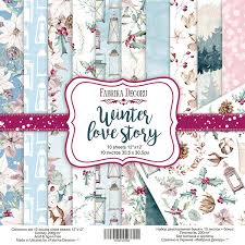 Fabrika Decoru 'Winter Love Story' 12x12 Pad - FDSP-01061