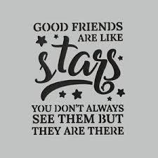 DaliART Stencils - Friends Are Stars - 7 x 7