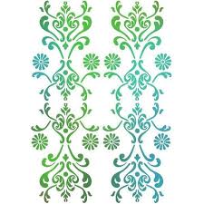 Stamperia Stencil - Flexible transparent 21x29,7cm - Floral Pattern - KSG259