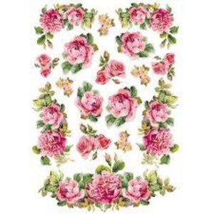 Stamperia A4 Decoupage Rice Paper -  Roses and Garlands DFSA4151