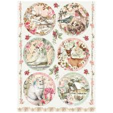 Stamperia A4 Decoupage Rice Paper - Sweet Christmas Balls DFSA4253