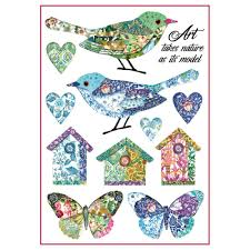 Stamperia A4 Decoupage Rice Paper - Birds and Fantasy Nests DFSA4297