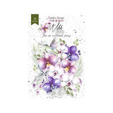NEW Fabrika Decoru 'Wild Orchid' Die Cuts 49 pieces - FDSDC-04044
