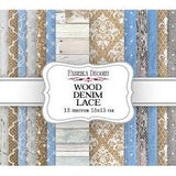 Fabrika Decoru 'Wood Denim Lace' 6x6 Pad -FDSP-03013