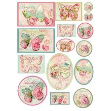 Stamperia A4 Decoupage Rice Paper -  Butterfly Square DFSA4070