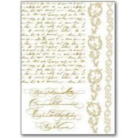 Stamperia Rub-On A5 Deco Transfer - 15x22.5cm Manuscript - DFTD15