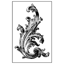 Stamperia Natural Rubber Stamps 7x11cm - Flourish - WTKCC135