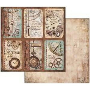 NEW Stamperia Clockwise Cards - Double Face Paper 30 x 30 SBB533