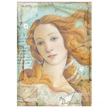 Stamperia A4 Decoupage Rice Paper - Botticelli DFSA4281