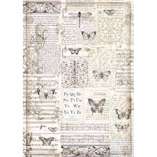 Stamperia Decoupage Rice Paper A3-  Butterflies DFSA3003