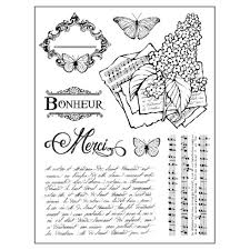 Stamperia Natural Rubber Stamps 14x18cm - Lilac - WTKCC103