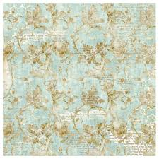 Stamperia 50 x 50cm Decoupage Rice Paper - Patina Floral DFT337