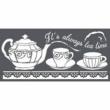 Stamperia Stencil - Thick Stencil -12 x 25cm It's Always Tea Time KSTDL18