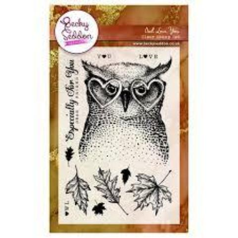 Becky Seddon 'Hoots and Love' Clear Stamp Set