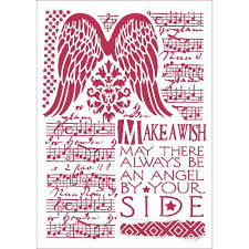Stamperia Stencil - Flexible transparent 21x29,7cm - Angel Wings Make A Wish - KSG435