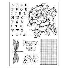 Stamperia Natural Rubber Stamps 14x18cm Peony - WTKCC104