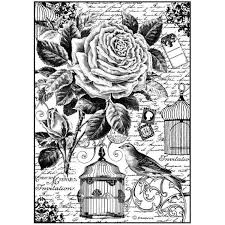 Stamperia A4 Decoupage Rice Paper - Bird Cage DFSA4195