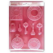 Stamperia A4 Moulds - Watches and Keys - K3PTA409