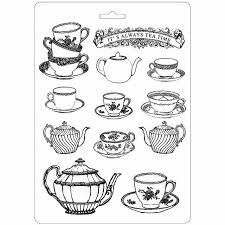 NEW Stamperia A4 Moulds - Tea Time- K3PTA455